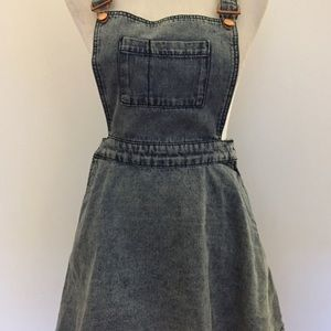Topshop Moto Jean Overall Dress